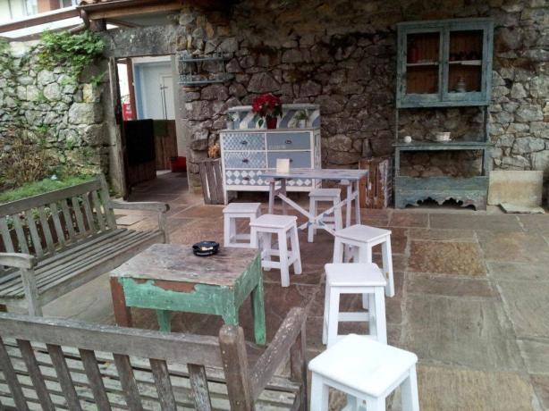 JFinteriorismo - Porche exterior Restaurante La Bicicleta