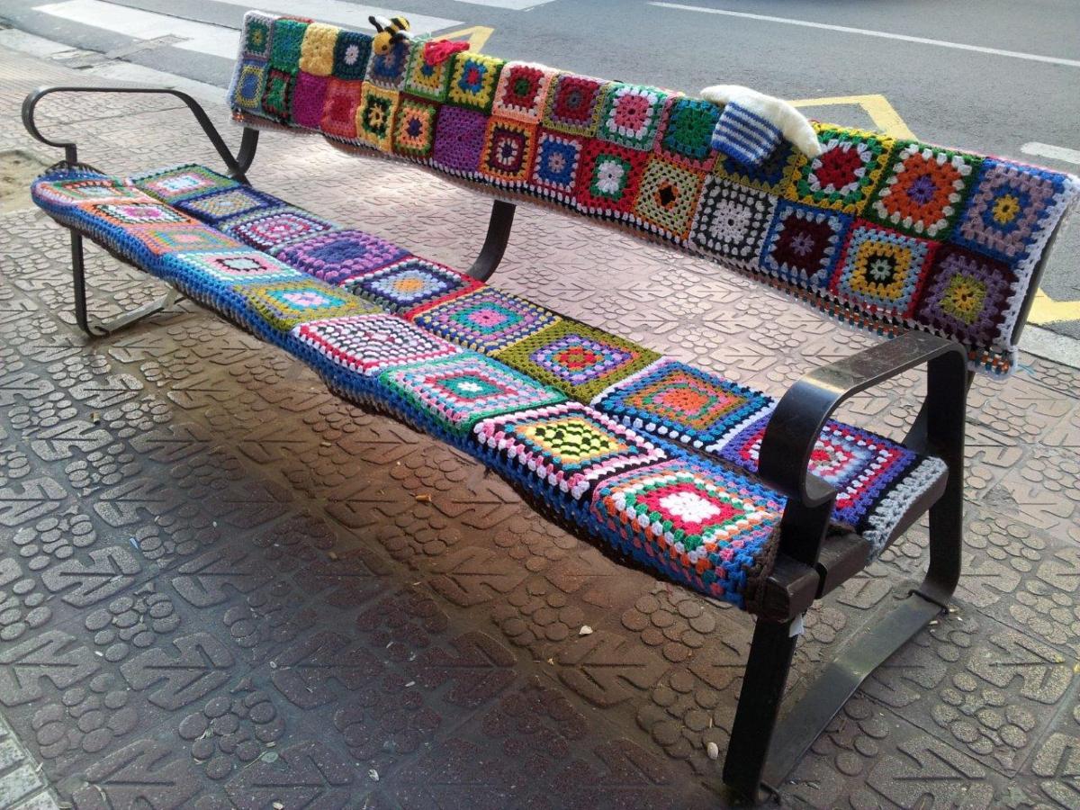 Urban knitting en logro o calor y color a pie de calle for Decoracion logrono